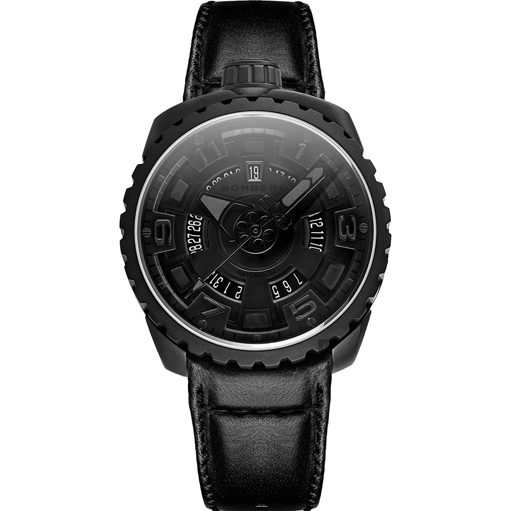 BOMBERG 炸彈錶 BOLT-68 經典機械錶-黑/45mm