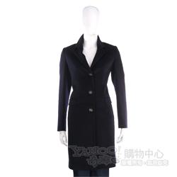 ANTONIO FUSCO 深藍色三釦長版大衣