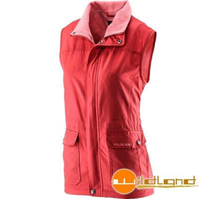 Wildland 荒野 0A22703-13橘紅色 女 防風時尚保暖背心