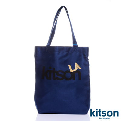 kitson  L.A.-LOGO購物袋/托特包  深藍