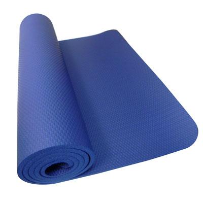 [SGS國際認證] NBR 專業單人雙壓紋10mm瑜珈墊.睡墊(深海藍)