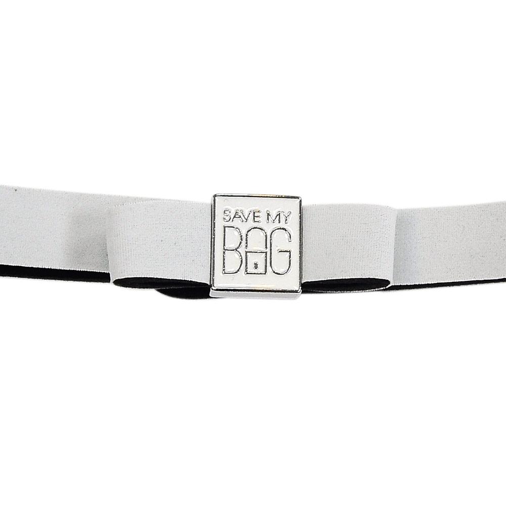 SAVE MY BAG 義大利品牌 MISS系列 白色蝴蝶結裝飾帶