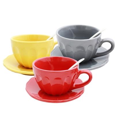 PUSH! 餐具1380度高溫燒製環保耐磨瓷咖啡杯