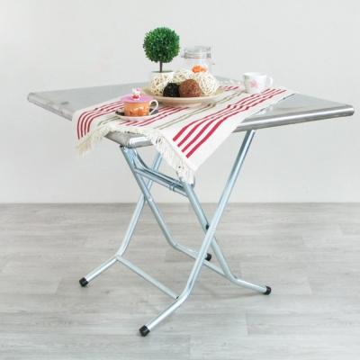 Amos-古早味正方形高腳摺疊鐵桌W89.8*D91.5*H77.5 CM
