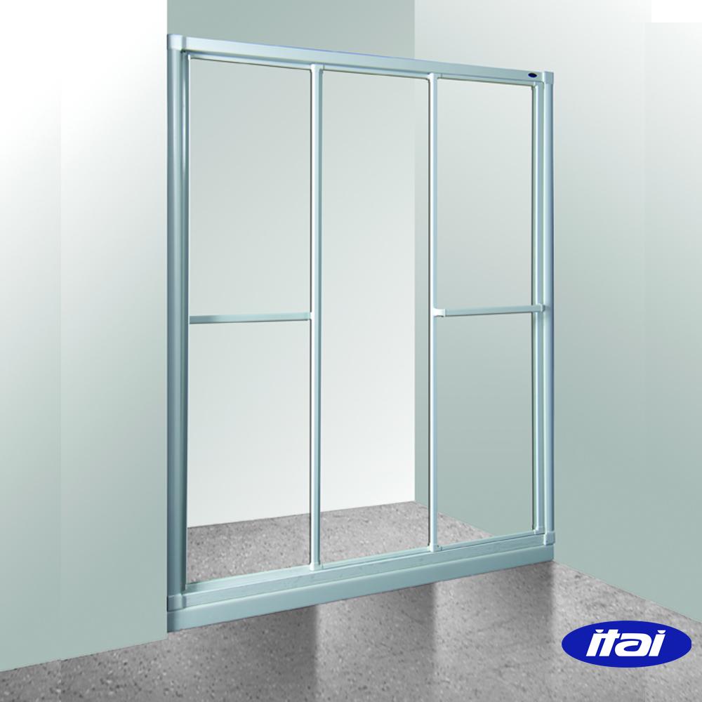 一太淋浴門-一字三門落地基本型(寬90~120cm x 高190cm範圍以內)