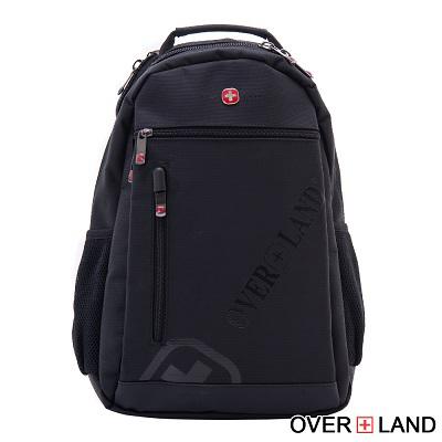 OVERLAND-美式十字軍x品牌LOGO浮印後背包