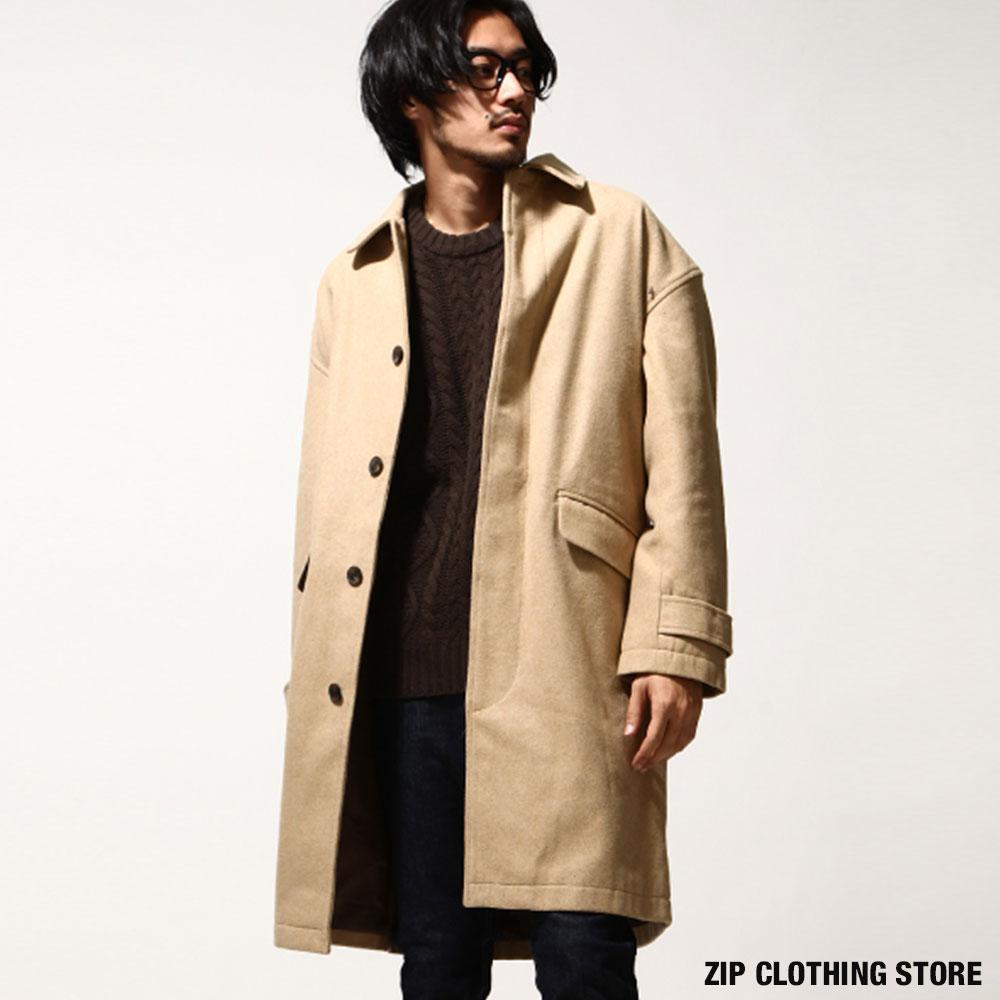 ZIP日本男裝 毛呢長大衣外套(10色)