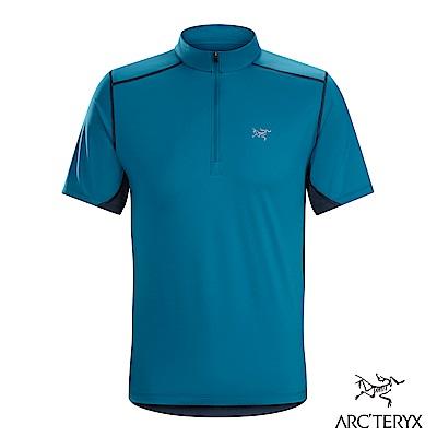 Arcteryx 男 Accelero快乾短袖套頭衫 夜景藍