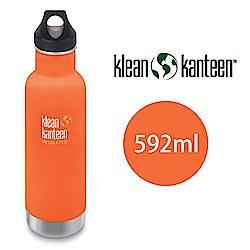 【美國Klean Kanteen】窄口不鏽鋼保溫瓶-592ml-山夕橘