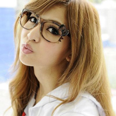 Aimee-Toff-哈囉甜心無鏡膠框眼鏡-豹
