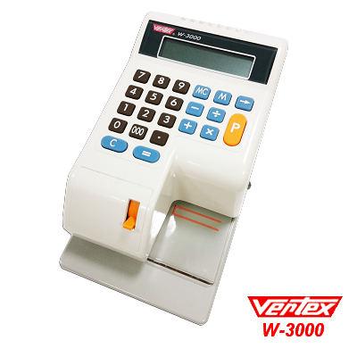 世尚VERTEX 中文視窗定位支票機 W-3000 送餐具