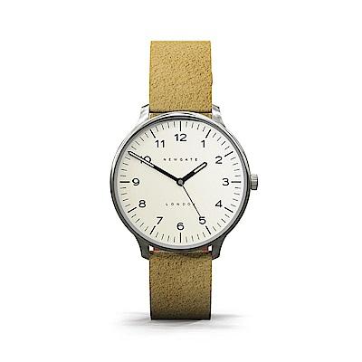 Newgate-BLIP-經典數字-麂皮駝-麂皮錶帶-40mm