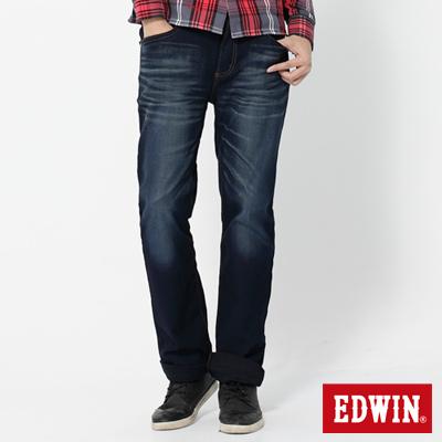 EDWIN-503迦績褲-JERSEYS針織中直筒牛仔褲-男款-原藍磨