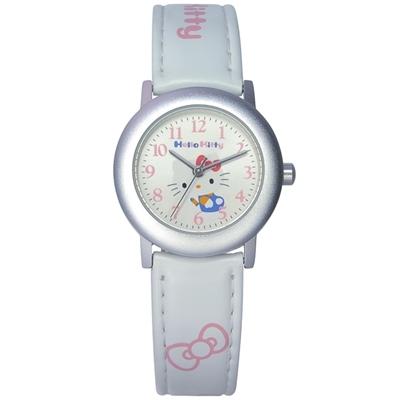 HELLO KITTY 凱蒂貓 俏皮時尚腕錶-白-30mm