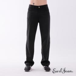 Earl Jean 素色寬鬆舒適休閒長褲-黑色-男