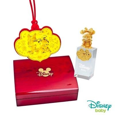 Disney迪士尼系列金飾 彌月金飾印章套組木盒-兩小無猜-美妮造型印章 <b>0</b>.15錢