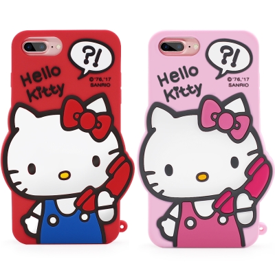 GARMMA Hello Kitty iPhone 8+/7+/6S+ 矽膠果凍...