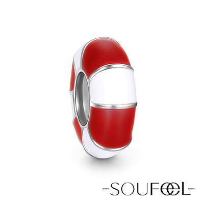 SOUFEEL索菲爾 925純銀珠飾 紅色游泳圈 定位珠