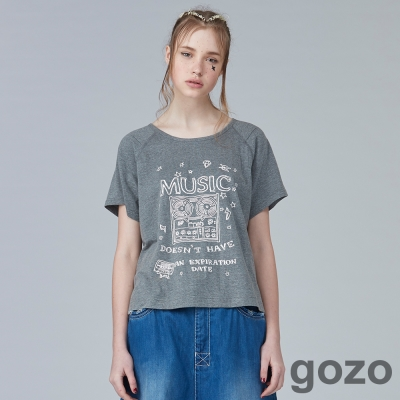 gozo迷幻搖滾之夜塗鴉短T(二色)-動態show