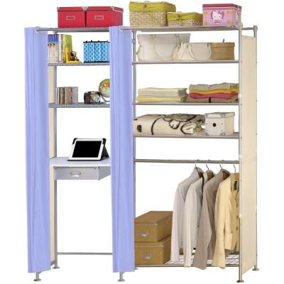 巴塞隆納-W5型90公分+E60公分電腦桌衣櫥架