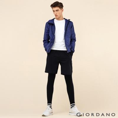 GIORDANO 男裝G-MOTION品牌印花休閒運動短褲- 09 標誌黑色