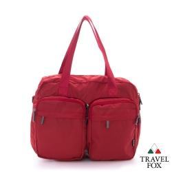 Travel Fox旅狐 小包百變 雙旅行托特肩背包 - 百變紅
