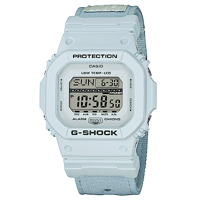 G-SHOCK軍事風飛行夾克設計極限運動休閒錶(GLS-5600CL-7)白43.2mm