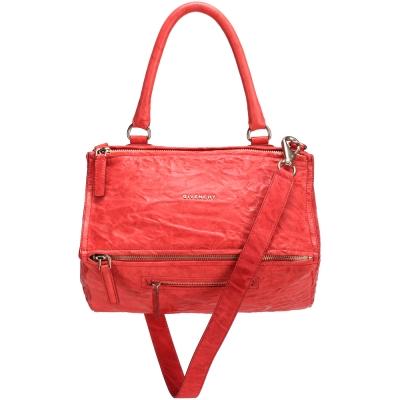 GIVENCHY Pandora 綿羊皮鞣製兩用提包(中/紅色)