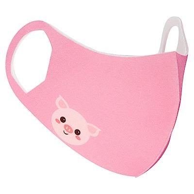 Prodigy 波特鉅 舒適美-3D立體透氣兒童口罩(莓果小豬)3入組