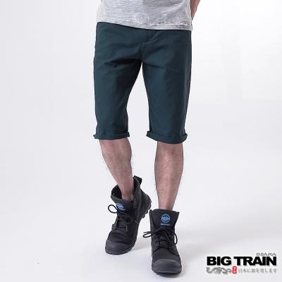 BIG TRAIN BT經典斜紋短褲-男-丈青