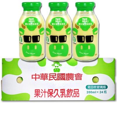 台農乳品 果汁保久乳飲品x1箱(24瓶/箱;200ml/瓶)