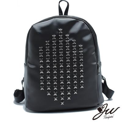 JW-心之情戀X鉚釘設計尼龍後背包-共一色