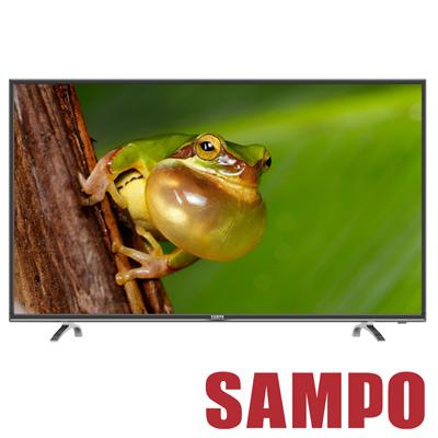 福利品 SAMPO聲寶 55吋 LED液晶顯示器+視訊盒 EM-55AT17D