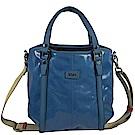 TODS G-BAG 亮面PVC材質兩用手提包(藍)