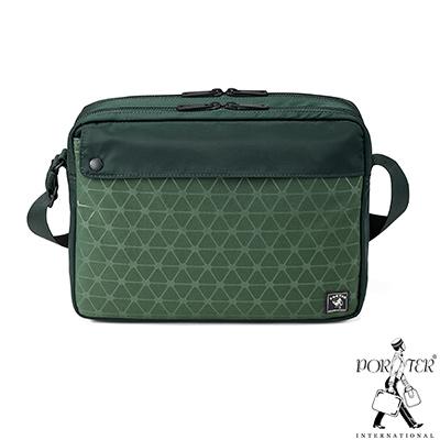 PORTER - 旅人視覺NIFTY中型輕巧斜背包 - 綠