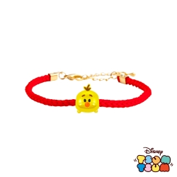 Disney迪士尼TSUM TSUM系列金飾 黃金編織手鍊-雪寶款