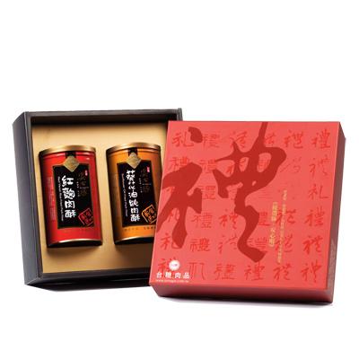 台糖安心豚 幸福滋味禮盒(紅麴肉酥+葵花肉酥)