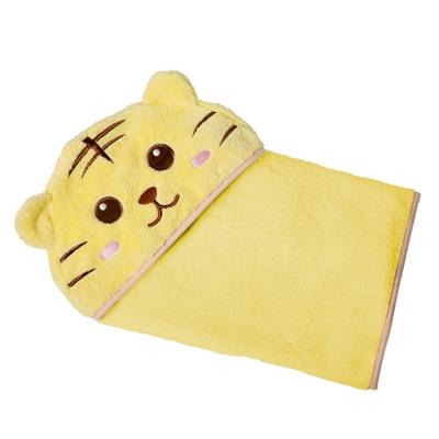 COTEX可愛動物大浴巾-泰可虎(鵝黃色)