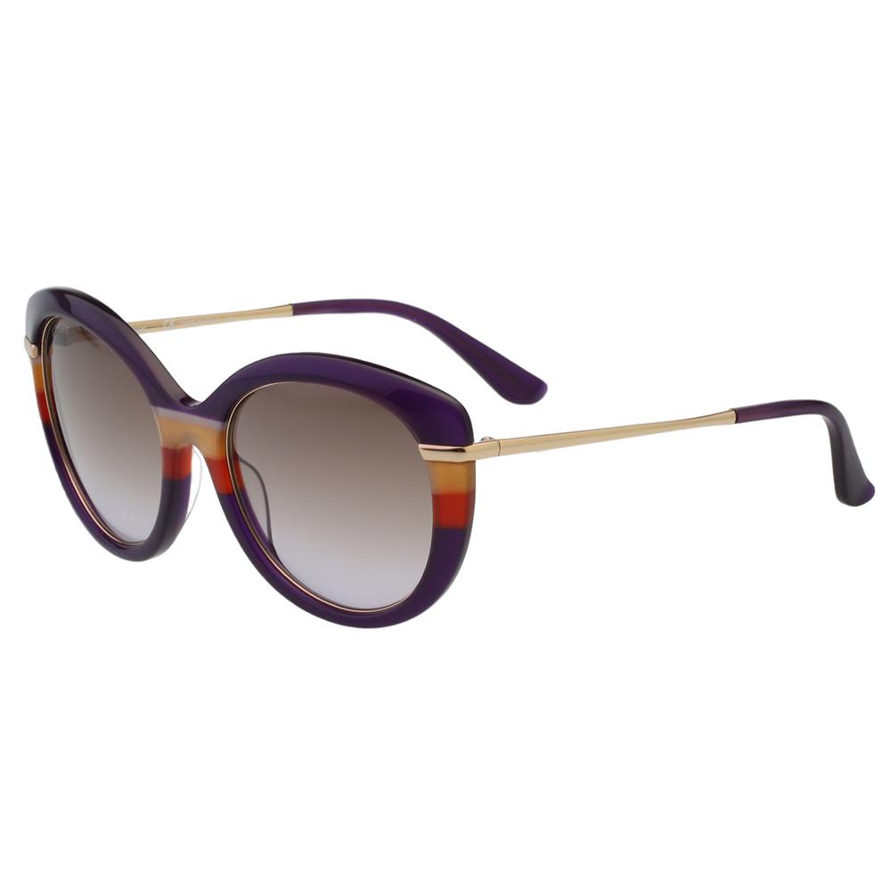 Salvatore Ferragamo- 時尚優雅太陽眼鏡(紫色)SF724S