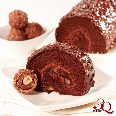 ★3Q烘焙★ 經典巧克力金沙捲2入