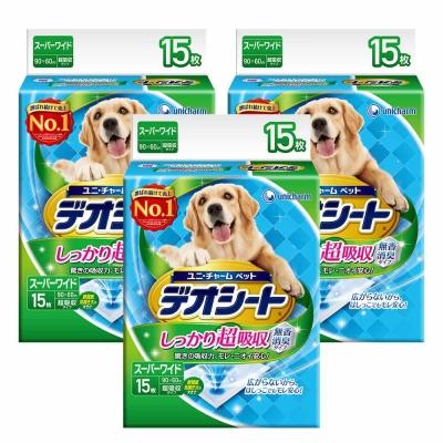 日本Unicharm消臭大師 超吸收狗尿墊 4L號 15片裝 x 3包