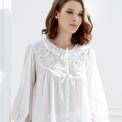 【羅絲美】幻白天境長袖褲裝睡衣 (氣質白)