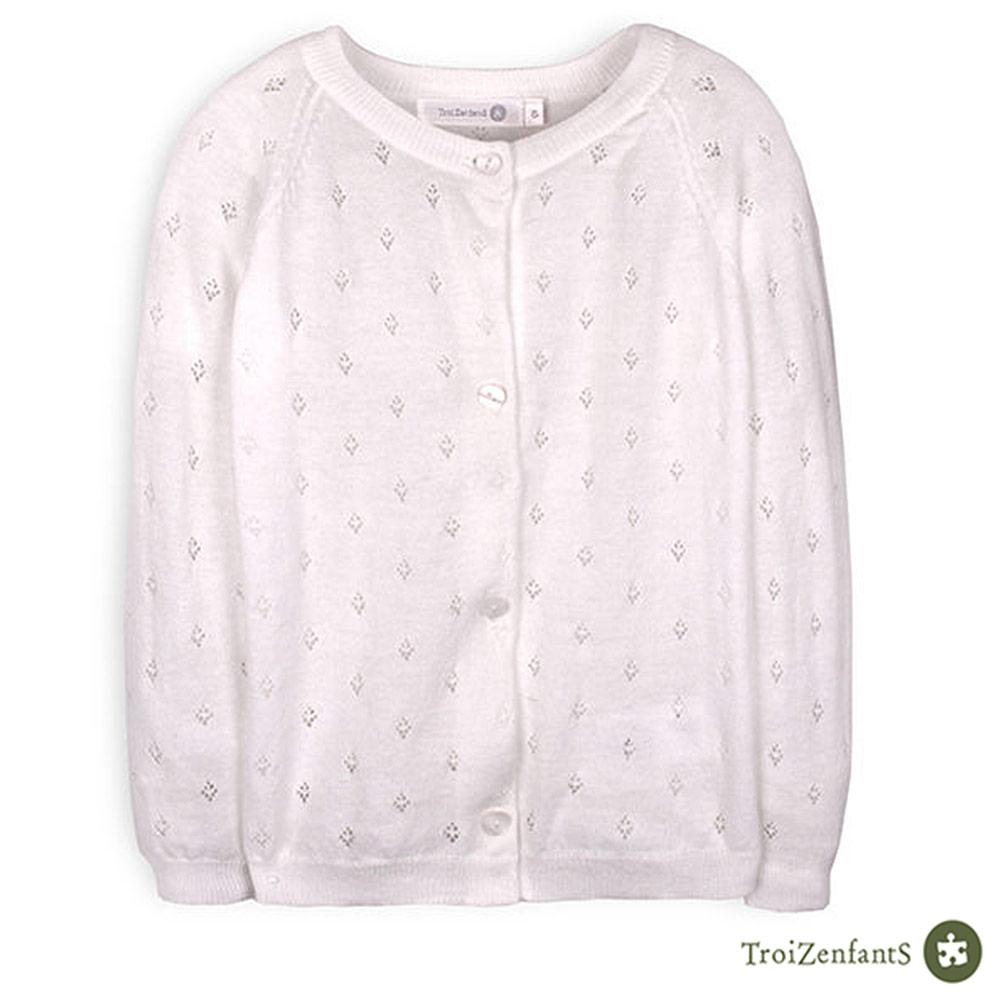 TroiZenfantS 法國精品 潔白色罩衫外套
