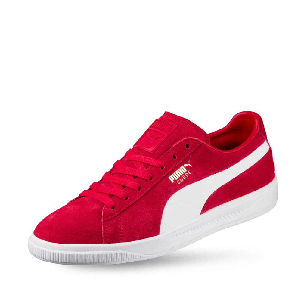 PUMA-Suede IGNITE 男女復古籃球運動鞋-緞帶紅