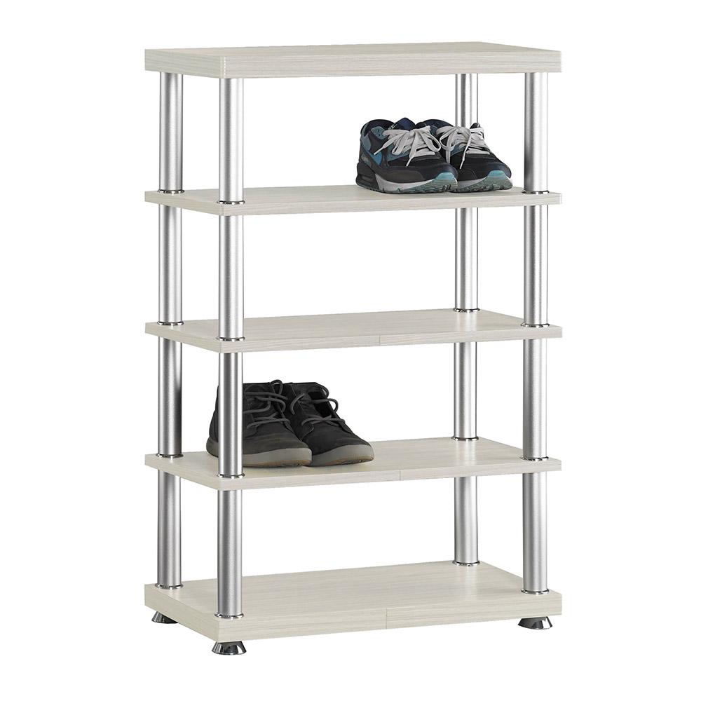 H&D 白雪杉2尺五層鞋架 (寬60X深30X高95cm)