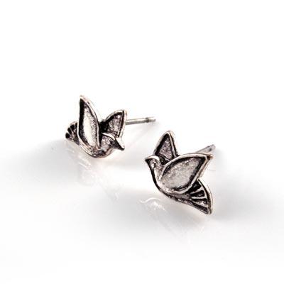 KOURIN花園系列-復古銀色飛鳥耳環