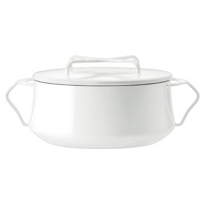 DANSK-琺瑯雙耳燉煮鍋-白色