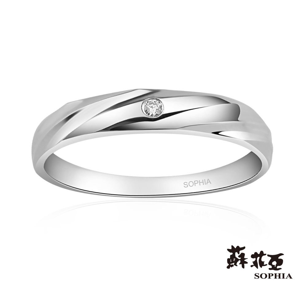 蘇菲亞SOPHIA 結婚戒指-纏綿鉑金鑽石女戒