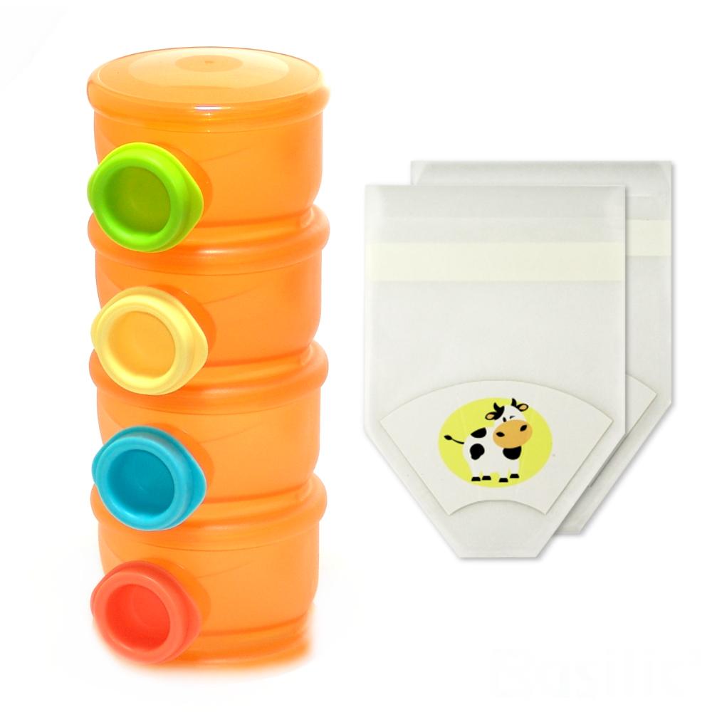 【貝喜力克】第二代四層奶粉盒+拋棄式紙奶粉盒-12入
