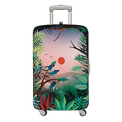 LOQI 行李箱外套 - 日落 M號 (適用22-27吋行李箱保護套)
